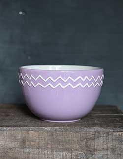Lilac Zig Zag Mixing / Serving Bowl