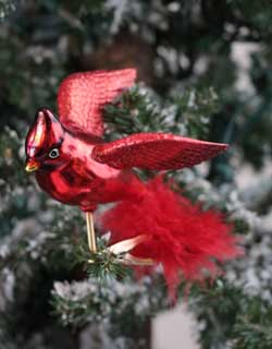 Flying Cardinal Clip Ornament