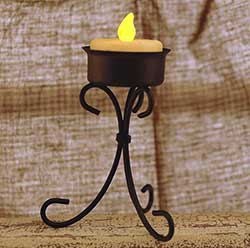 Scrolled Iron Tealight Holder