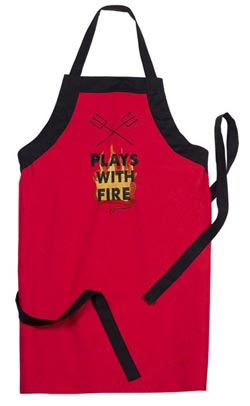 Plays with Fire BBQ Apron
