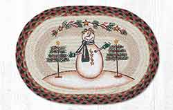 Moon & Star Snowman Braided Placemat - Oval