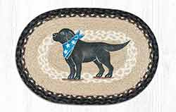 Black Lab Braided Placemat