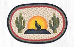 Coyote Silhouette Braided Placemat