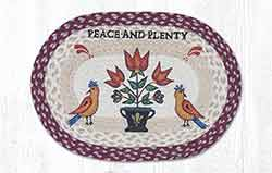 Peace & Plenty Braided Placemat - Oval
