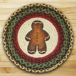 Gingerbread Men Printed Chair Pad