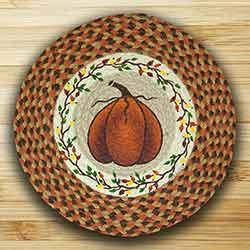 Harvest Pumpkin Printed Chair Pad