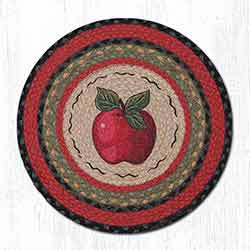 Apple Round Braided Chair Pad