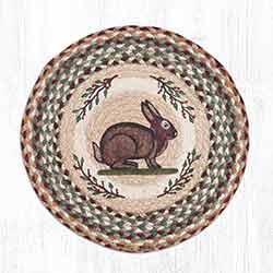 Vintage Rabbit Round Braided Chair Pad