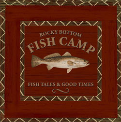 Fish Camp Paper Luncheon Napkin