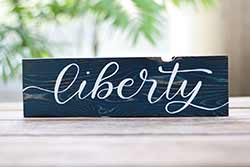 Liberty Wood Sign (Color options available)