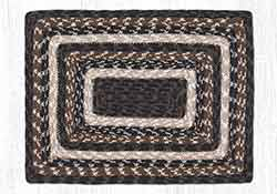 Mocha Frappuccino Cotton Braid Placemat - Rectangle