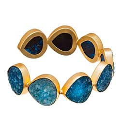 Large Turquoise Druzy Cuff Bracelet