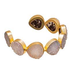 Large Ivory Druzy Cuff Bracelet