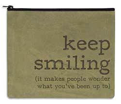Keep Smiling Travel Bag