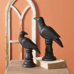 Raven Tabletop Statues (Set of 2)