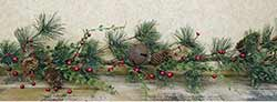 Pine Garland with Red Berries