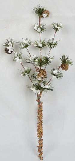 Snowy Brush Pine Pick
