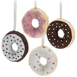 Felt Donut Ornaments (Set of 4)