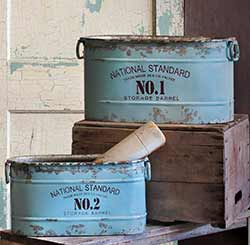 Numbered Storage Barrel Buckets (Set of 2)