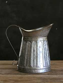 Large Galvanized Tin Pitcher