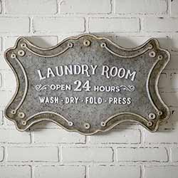 Laundry Room Large Metal Sign