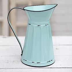 Teal Metal Pitcher