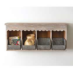 Wood & Metal Nesting Box Shelf