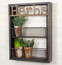 Herbs Rustic Wall Shelf