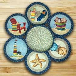 By the Sea Braided Jute Trivet Set