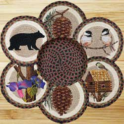 Pine Tree Jute Trivet 10 Inch Cabin Decor