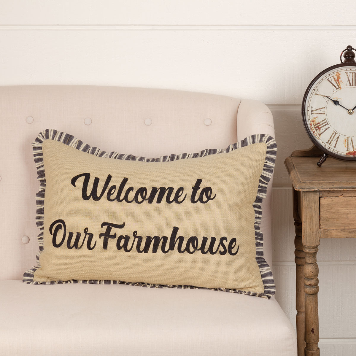Ashmont Welcome to Our Farmhouse Throw Pillow
