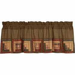 Tea Cabin Valance with Block Border