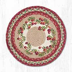 Cranberries Braided Placemat - Round