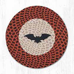 Bat Braided Placemat - Round