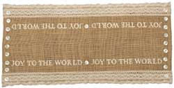 Joy Burlap Table Runner