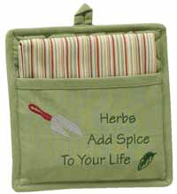 Herbs and Spice Pot Holder Set