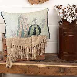Embroidered Gourd Throw Pillow