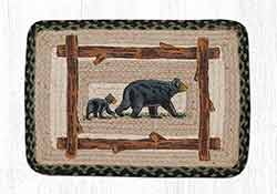 Mama & Baby Bear Braided Placemat - Oblong