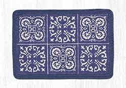 Blue Tile Oblong Printed Placemat