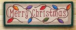 Merry Christmas Table Runner - 36 inch