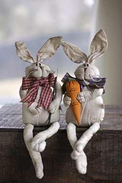 Grubby Carrot Farmer Bunnies (Set of 2)