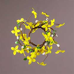 Forsythia & Pussy Willow Candle Ring