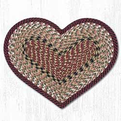 Burgundy & Mustard Cotton Heart Placemat
