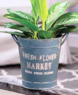 Fresh Flower Market Bucket