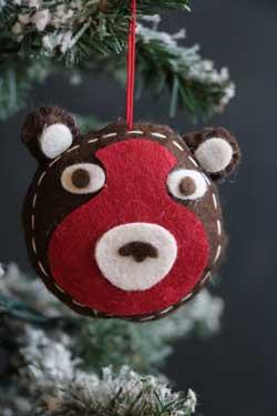 Bear Felt Ornament