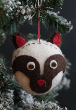 Raccoon Felt Ornament
