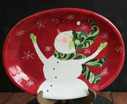 Winter Fun Dinnerware - Snowman Oval Platter