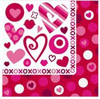 Hugs and Kisses Beverage Napkin