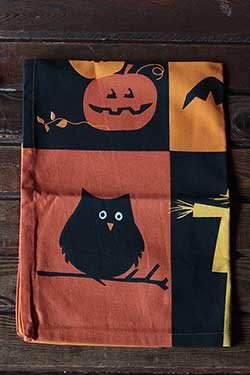 Halloween Grid Dishtowel