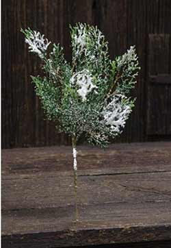 Snowy Cedar Spray - 13 inch